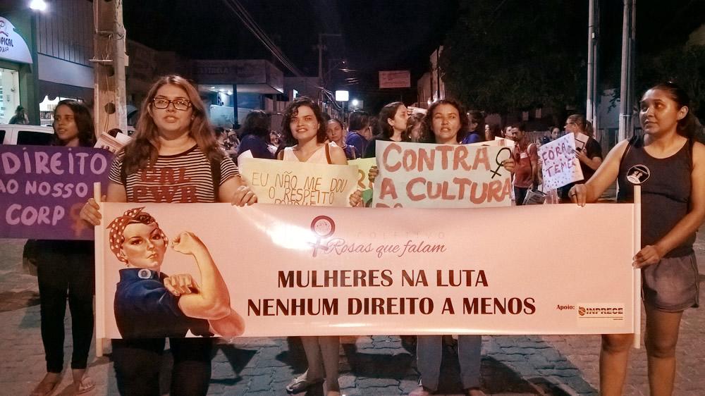 08 de março no Iguatu: Mulheres na rua contra o MACHISMO e o desmonte da PREVIDÊNCIA